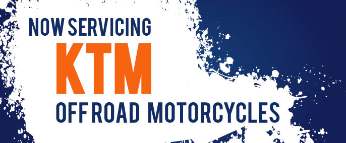 Servicing KTM off road motorcycles
