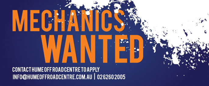 Mechanics wanted - Contact Hume Off Road to apply